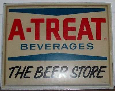 Large Plastic  A-Treat  Beverage Sign