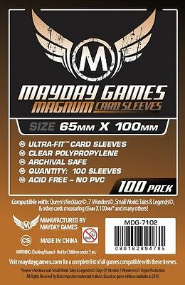 100 Large Sized Card Sleeves [Copper] for 7 wonders (65 x 100mm)