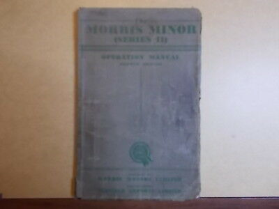 The Morris Minor (Series II) Operation Manual Fourth Edition 1950's