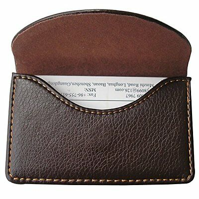 NEW PU Leather Business Name Card Case Wallet Holder Magnetic Shut Brown KINGFOM
