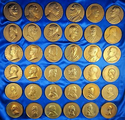 """36 Presidents Inauguration Peace Friendship Medals Bronze Large 3"""""""