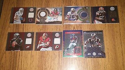 JERSEY AUTOGRAPH LOT ..RC ..TOPPS ..DONRUSS OPTIC 2016 ..Will Fuller  -  Vick
