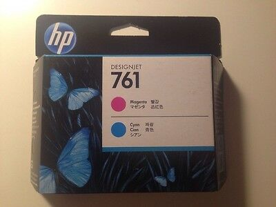 (Brand New Sealed) Genuine HP 761 Printhead Magenta & Cyan (CH646A) Expired