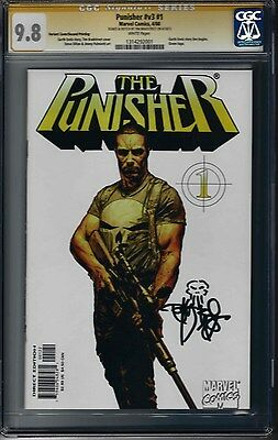 The Punisher #1 (NM/MINT) V#3 CGC 9.8 Signed with Sketch by TIM BRADSTREET