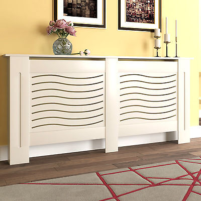 White Painted Radiator Cover Wall Cabinet Wood MDF Traditional Modern