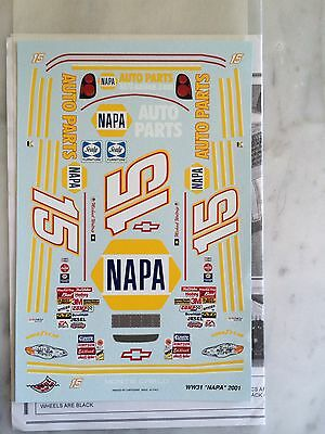 1/24 Michael Walteip 2001Daytona 500 Winning Decals Nascar By Wetworks Very Rare