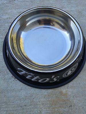 Titos vodka dog bowl