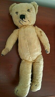 1930 merrythought teddy bear made in England with label
