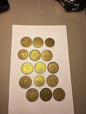 Lot Of 15 Arcade Game Tokens