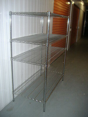 4 Tier Adjustable Chrome Shelving Unit