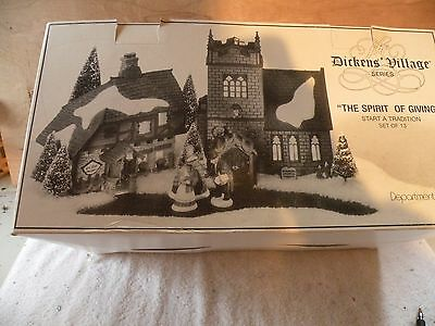 Dept 56 Dicken's Village Series The Spirit Of Giving 13 Piece Set