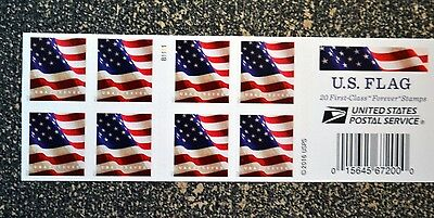 2017USA #5160b Forever U.S. Flag US - Booklet of 20  Mint  (BCA)