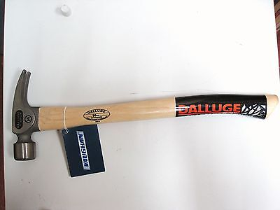 "LQQK Dalluge 7175 Titanium 14 oz 19"" Curved Hickory Handle Hammer Milled Face"