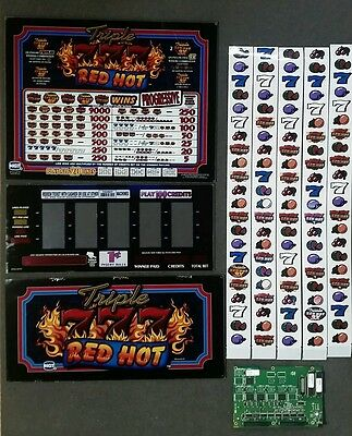IGT S2000 TRIPLE RED HOT SEVENS Top Belly Reel Glass w/ Reel Strips & Software