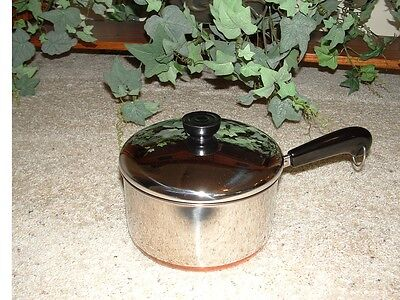 Vintage NOS Revere Ware Teflon II 2 Quart Covered Saucepan *NEW*