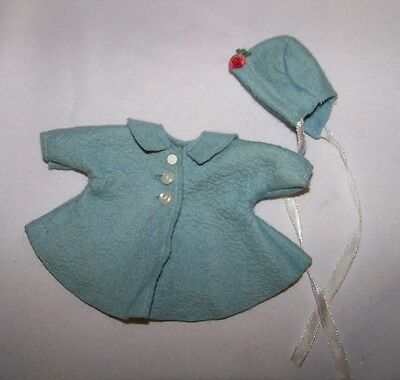 1950's Vogue Ginny Ginnette Blue Felt Coat & Hat Tagged