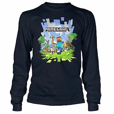 Minecraft Adventure with Logo Youth Long Sleeve T-Shirt