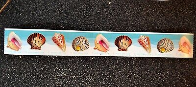 2017USA Postcard Rate Seashells PNC Coil Strip of 9 Mint  #P1111