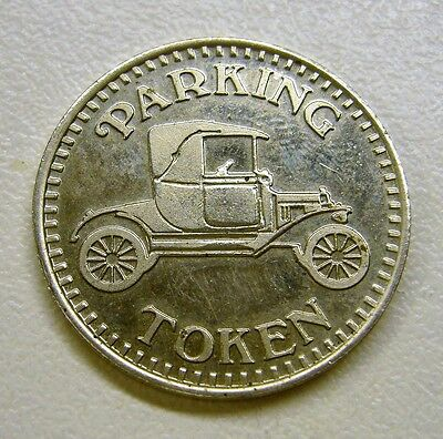 Parking Token, Model T with Eagle On Revere