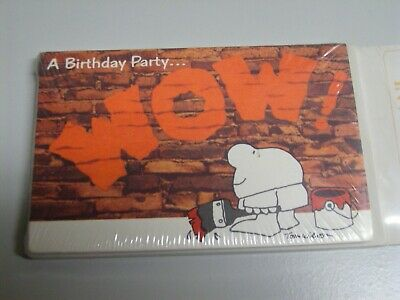 Vintage Ziggy Birthday Party WOW Party Invitations Cards Envelopes