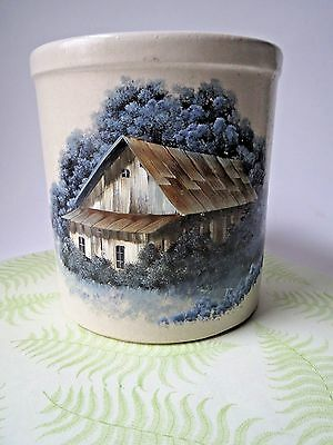 Robinson Ransbottom Jar 2 qt. Roseville Ohio Hand painted Country Decor, USA