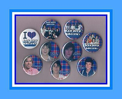 Bay City Rollers 56mm Button Badges 9 to choose from FREEPOST Set 3 SHANG A LANG