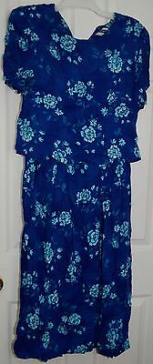 Prophecy by Sag Harbor Maternity Nursing Dress Floral Modest Size 10