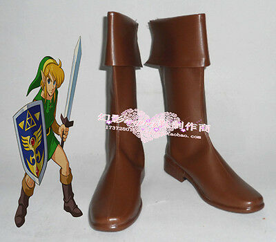 The Legend of Zelda link cosplay shoes boots Custom-Made 204