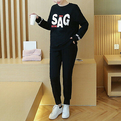 Popular Maternity Outfits Vogue Pregnant Women Suits Casual Comfy Tops + Pants