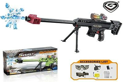 Crystal Gel Bullet Sniper Water Gun Toy Shooter Fast 1000+ Bullet