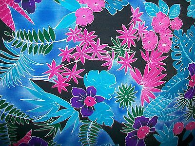 """TROPICAL ORCHIDS POLY DRESS FABRIC - 58"""" x 56"""""""