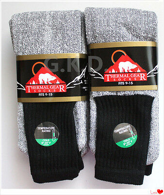Men's Super Warm Heavy Thermal double Insulated Winter Socks Size 9-15 Wholesale