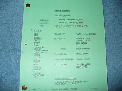 General Hospital Tv Script - Rick Springfield - Anthony Geary - Tristan Rogers