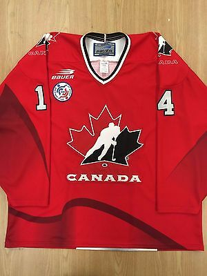 1996 Team Canada World Cup of Hockey Jersey RED BAUER XL #14 SHANAHAN