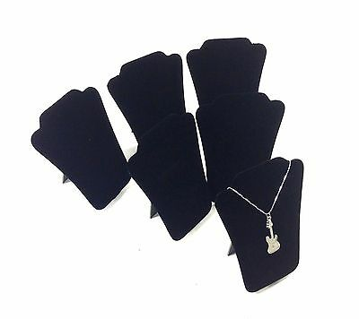 "6pc Black Velvet Collapsible Necklace Easel Stand Jewelry Showcase Display 5""H"
