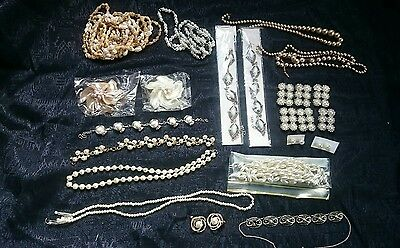 Bulk Lot Jewellery 60 + Items/ Costume / Art /craft / Mixed Media/  Some New