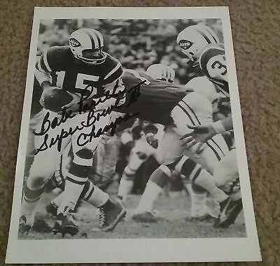 NFL JETS HOF BABE PARILLI AUTOGRAPHED SIGNED 8x10 FOOTBALL PHOTO COA JSA PSA