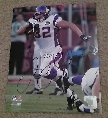 NFL VIKINGS HOF TOBY GERHART AUTOGRAPHED SIGNED 8x10 FOOTBALL PHOTO COA JSA PSA