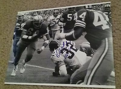 NFL HOF 49ers DAVE WILCOX AUTOGRAPHED SIGNED 8x10 FOOTBALL PHOTO COA JSA PSA