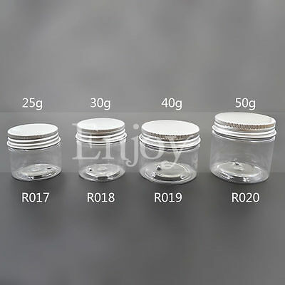 Clear Empty Screw Lid Jar Pot Cosmetic Container 25g 30g 40g 50g 1PC Portable