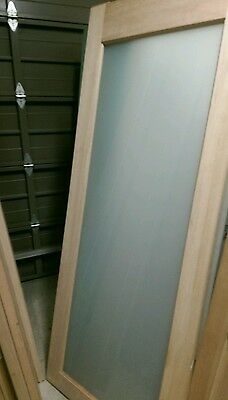 Maple glass panel door 2040 x 820 x 40 mm frosted exterior front back
