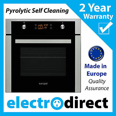 Made in Europe Pyrolytic Electric Oven Fan Forced Self Cleaning Built-in NEW