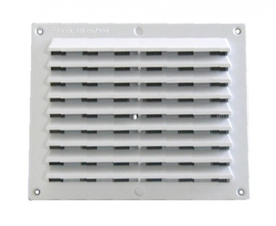 Plastic Grille 175X146 Mm Ecrans insect-proof Ventilation réglable Construction