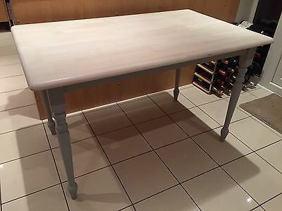 Kitchen Dining Table - Shabby Chic Painted With Autentico Vintage Chalk Paint