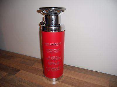 "Vintage ""THIRST EXTINGUISHER"" Music Box Decanter Cocktail Shaker Chrome"