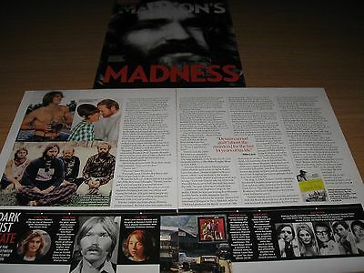 CHARLES MANSON / MICK LOVE - 3 page magazine clipping THE BEACH BOYS