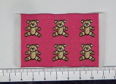 1:12 Small Woven Pink Bears  Rug Mat Doll House Miniature Accessorry