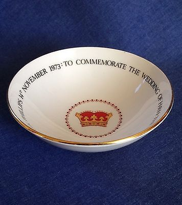 Queen Anne Bone China. Dish. Wedding of Princess Anne to Capt. Mark Phillips.
