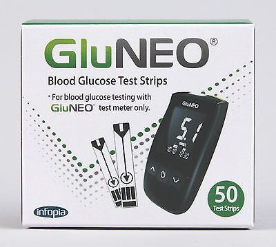 GluNEO Blood Glucose Test Strips (50 Test Strips)
