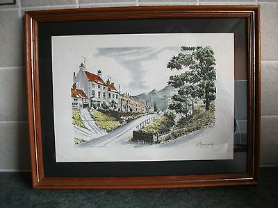 Framed Coloured Print Of Carlton-In-Cleveland